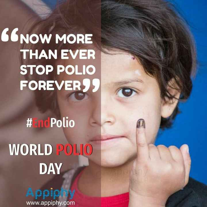 world polio day - CONOW MORE THAN EVER STOP POLIO FOREVERSS # nd Polio WORLD POLJO DAY ច www . appiphy . com  - ShareChat