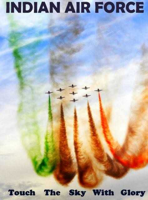 Air Force Day - INDIAN AIR FORCE Touch The Sky With Glory  - ShareChat