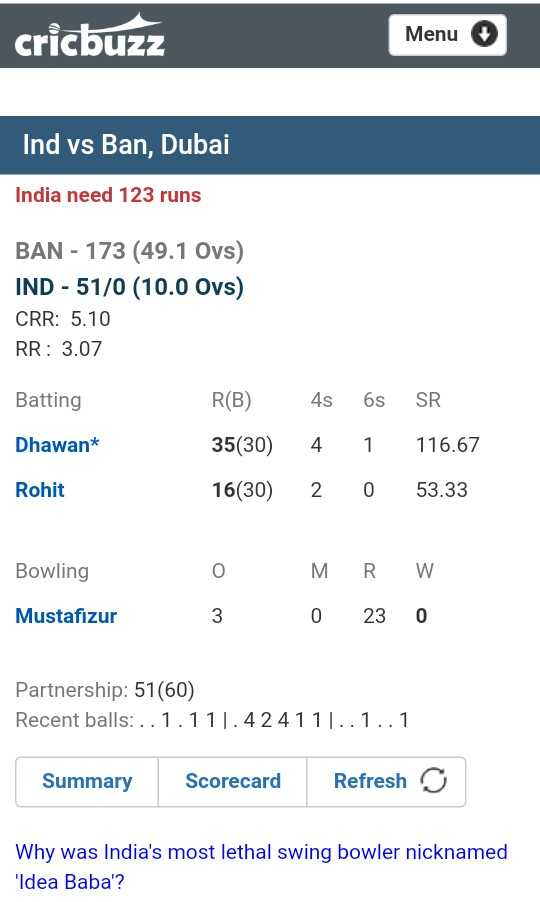 IND vs BAN (Asia Cup) - ShareChat