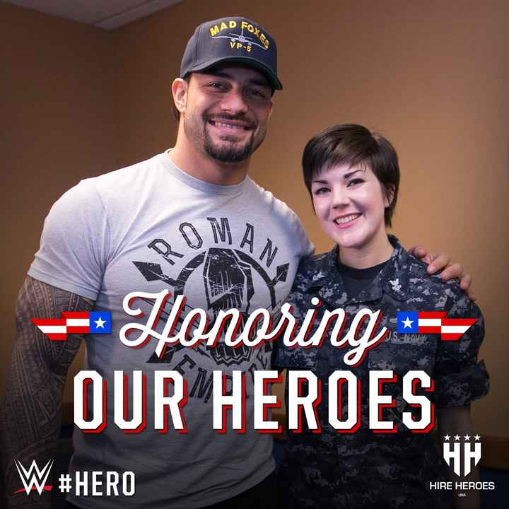 Roman Reigns - MAD FO VP - 5 - - Honoring OUR HEROES * * * * W # HERO HIRE HEROES USA  - ShareChat