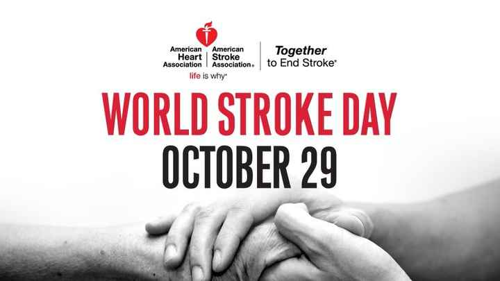 world stroke day - American American Heart Stroke Association Association . life is why Together to End Stroke WORLD STROKE DAY OCTOBER 29  - ShareChat