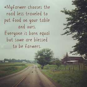 National Farmer's Day - * My farmer chooses the road less traveled to put food on your table and ours . Everyone is born equal but some are blessed to be farmers .  - ShareChat